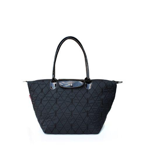 Стеганая сумка с клапаном PoolParty pool80-black-diamond